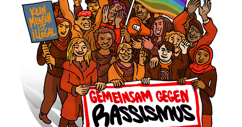 ViRaLfonds Illustration: Protest gegen Rassismus